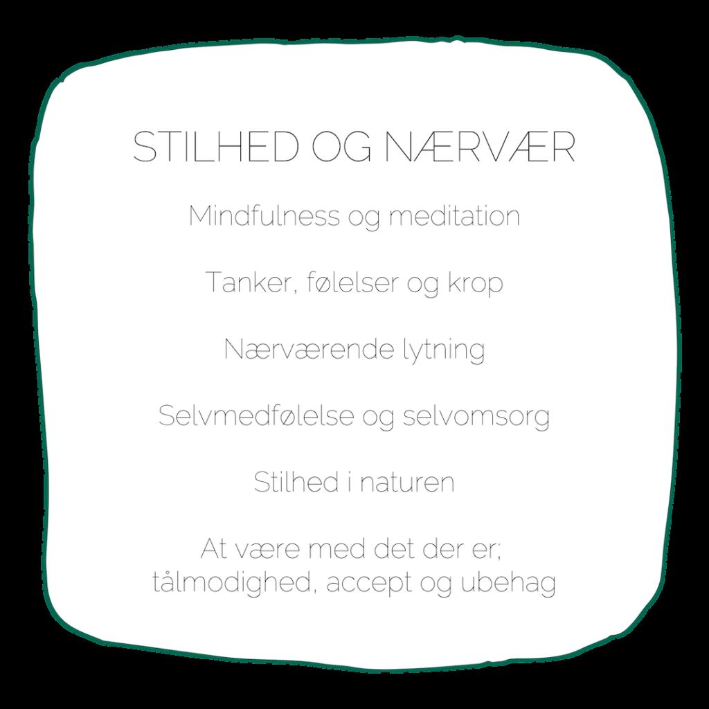 Uddannelsen i naturterapeutisk mindfulness stilhed nærvær